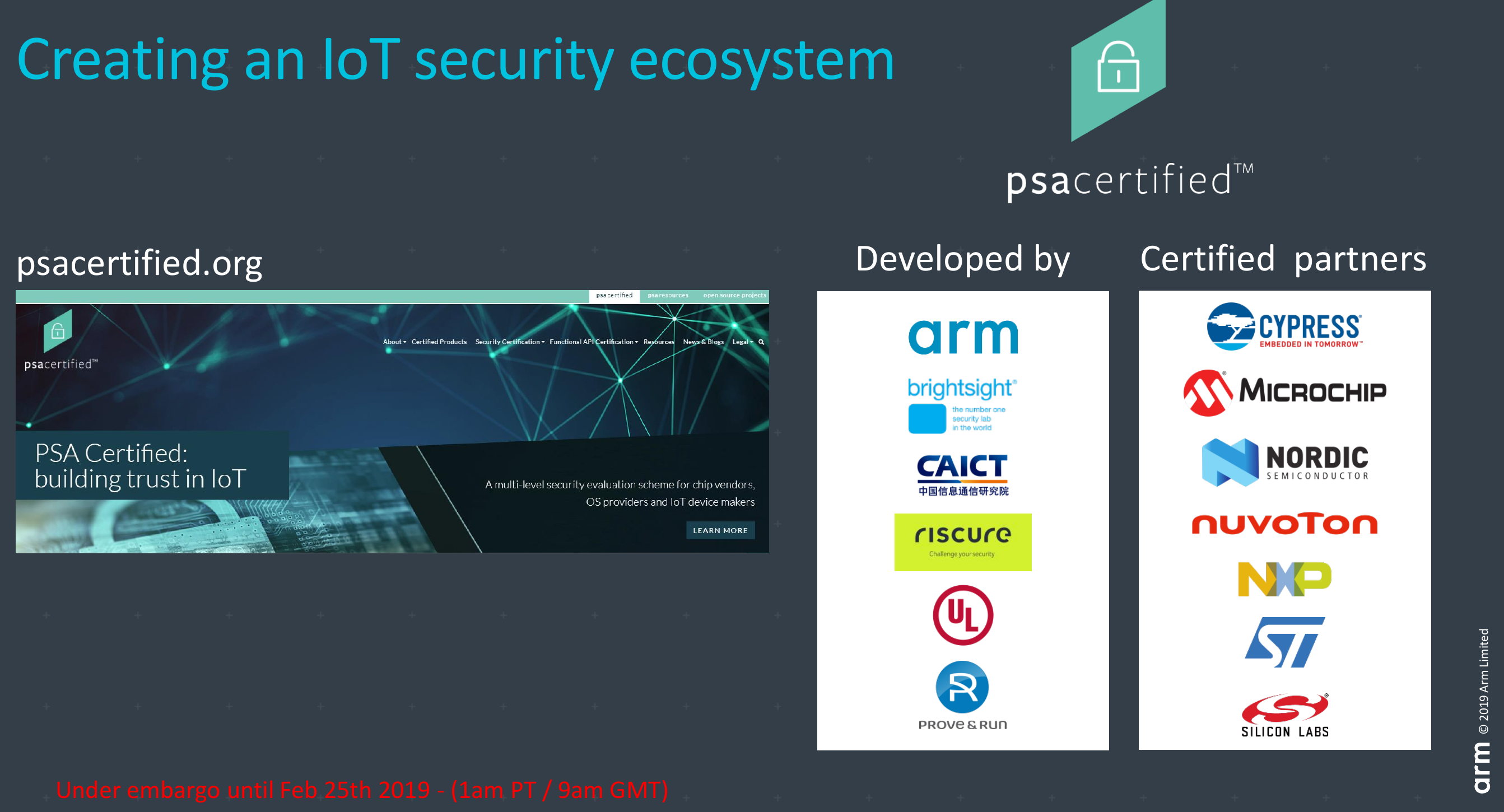 Arm Announces a New Security Certification Program for IoT Devices